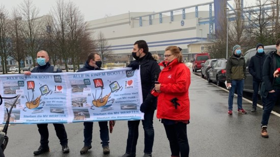 Demonstration Erhalt Warnowwerft